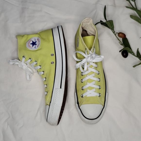 Converse lime green hi cut chuck taylor